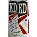 KD Centaur (Series 1) metallic cricket bat stickers