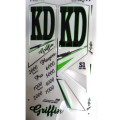 KD Griffin (Series 1) metallic cricket bat stickers