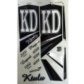 KD Ktulu (Series 5) metallic cricket bat stickers