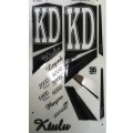 KD Ktulu (Series 6) metallic cricket bat stickers